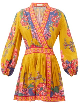 Zimmermann Lovestruck Floral-print Linen Dress - Yellow Print