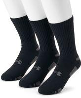 Under Armour Men's 3-pack Heatgear Performance Training Crew Socks