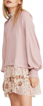 Free People Opposite Attraction Mini Dress