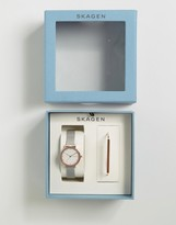Skagen Ancher Watch & Anette Bracelet Set