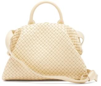 Bottega Veneta Handle Intrecciato Leather Bag - Cream