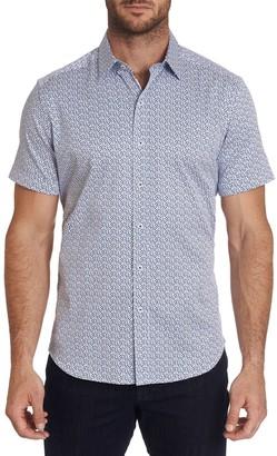 Robert Graham Tailored-Fit Geometric-Print Shirt