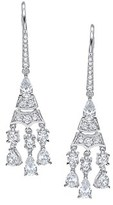 Crislu Diana Platinum Plated Cz Drop Earrings.