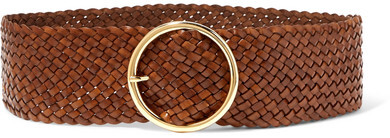 Thumbnail for your product : Andersons Woven Leather Belt - Brown