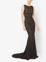 Michael Kors Stretch Floral Lace Gown