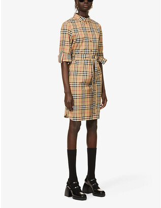 Burberry Giovanna checked stretch-cotton mini dress