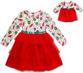 Dollie & Me White & Red Ornament Dress & Doll Dress - Girls