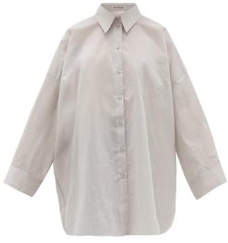 Acne Studios Suky Oversized Cotton-blend Shirt - Light Grey