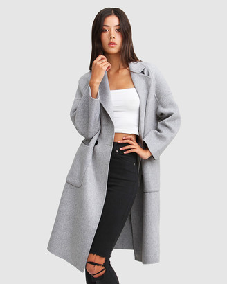 Belle & Bloom Publisher Double-Breasted Wool Blend Coat