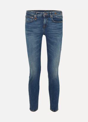 R 13 Alison Mid-rise Skinny Jeans - Dark denim