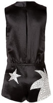 Marc by Marc Jacobs Satin Stud Embellished Stars Playsuit