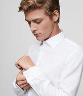 Reiss Papa - Slim-fit Textured Shirt in White, Mens