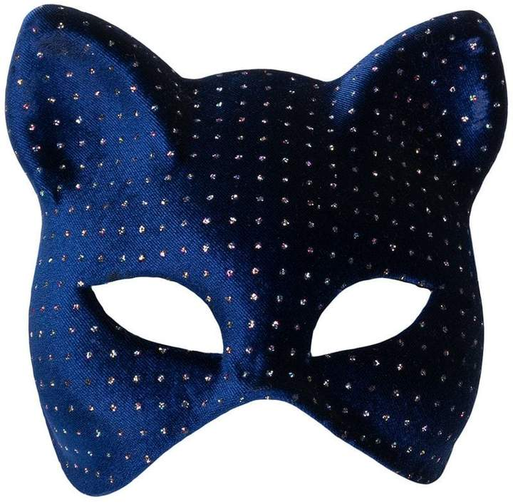 Maison Michel glittery cat mask