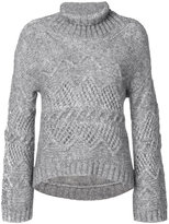 Ermanno Scervino roll neck jumper - women - Cotton/Polyamide/Wool/Alpaca - 40