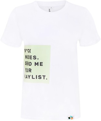 Blonde Gone Rogue F*ck Nudes Men's Organic Tee In White