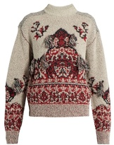 Toga Rug-jacquard high-neck sweater