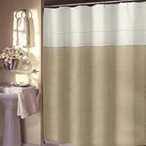 Veratex 647796 Pacifica Unlined Luxury Linen Shower Curtain, Khaki
