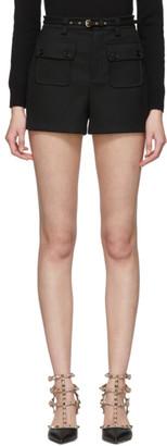 RED Valentino Black Tricotine Shorts