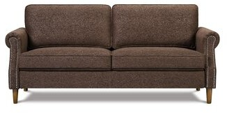"""Thumbnail for your product : Alcott Hill Rentz 76.4"""" Linen Rolled Arm Sofa"""