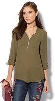New York & Co. Soho Soft Shirt - Zip-Front