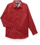 Beverly Hills Polo Club Crimson Red Button-Up - Boys