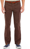 Roundtree & Yorke Casuals Straight-Fit Flat-Front Stretch Canvas Pants