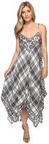 Tolani Danity Plaid Handkerchief Maxi Women's Dress