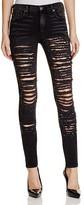 True Religion Halle Skinny Jeans in Grey Shadow