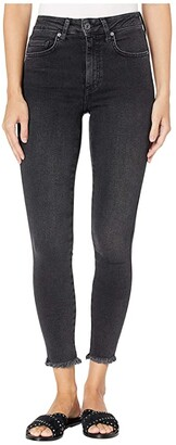 Free People Raw High-Rise Jeggings (Black) Women's Jeans