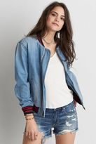 American Eagle Outfitters AE Denim Bomber Jacket