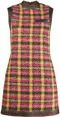 Gucci Check Print Shift Dress