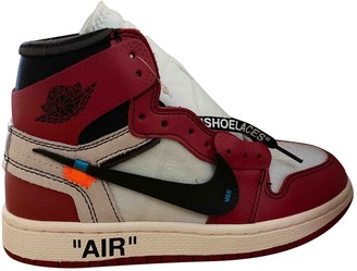 Nike x Off-White Air Jordan 1 Red Leather Trainers