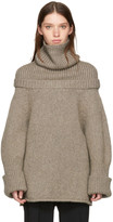 J.W.Anderson Taupe Wool Turtleneck