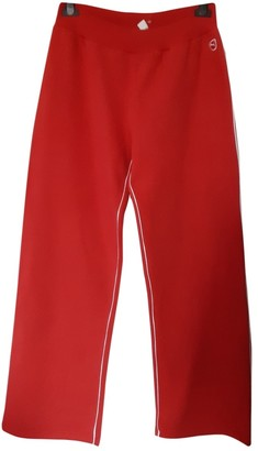 Puma Red Cotton Trousers for Women