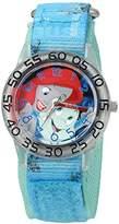Disney Girl's 'Ariel' Quartz Plastic and Nylon Watch, Color:Blue (Model: W002915)