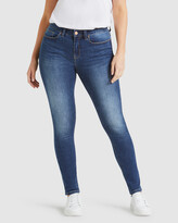 Thumbnail for your product : Jeanswest Women's Blue Skinny - Curve Embracer Skinny Jeans Mid Vintage - Size One Size, 14 Regular at The Iconic