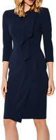 Karen Millen Tailored Long Sleeve Pencil Dress, Navy