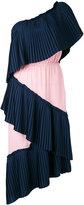 Marco De Vincenzo single shoulder pleated dress - women - Polyester - 40