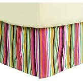 Bacati Dots and Stripes Spice Bed Skirt