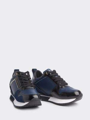 Tommy Hilfiger Leather Concealed Wedge Trainers
