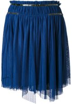 Jay Ahr silver-tone detail pleated skirt