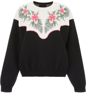 Alanui Motif Embroidered Oversized Sweatshirt