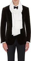 Barneys New York Men's Floral-Jacquard Silk Satin Formal Scarf-WHITE