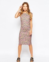Ichi Zig Zag Bodycon Dress