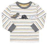 F&F Dinosaur Striped Long Sleeve T-Shirt, Infant Unisex