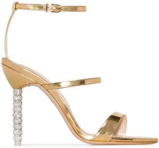 Sophia Webster Gold Rosalind Crystal 100 Sandals