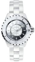 Chanel J12 Mirror Medium Ceramic & Stainless Steel Bracelet Watch