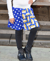 Beary Basics Blue School Bus Patchwork Circle Skirt - Infant Toddler & Girls