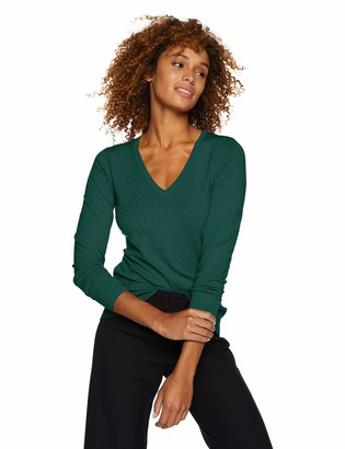 Lark & Ro Amazon Brand Women's Premium Viscose Blend Long Sleeve V-Neck Sweater