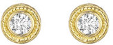 Penny Preville Twisted Bezel Diamond Earrings